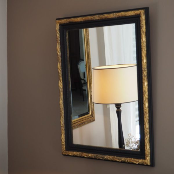miroir noir rectangle